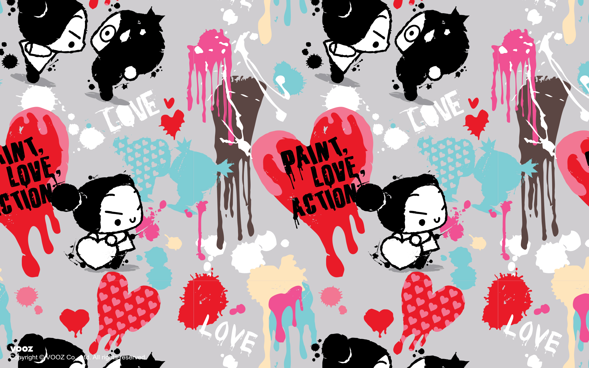 Painted love Pucca